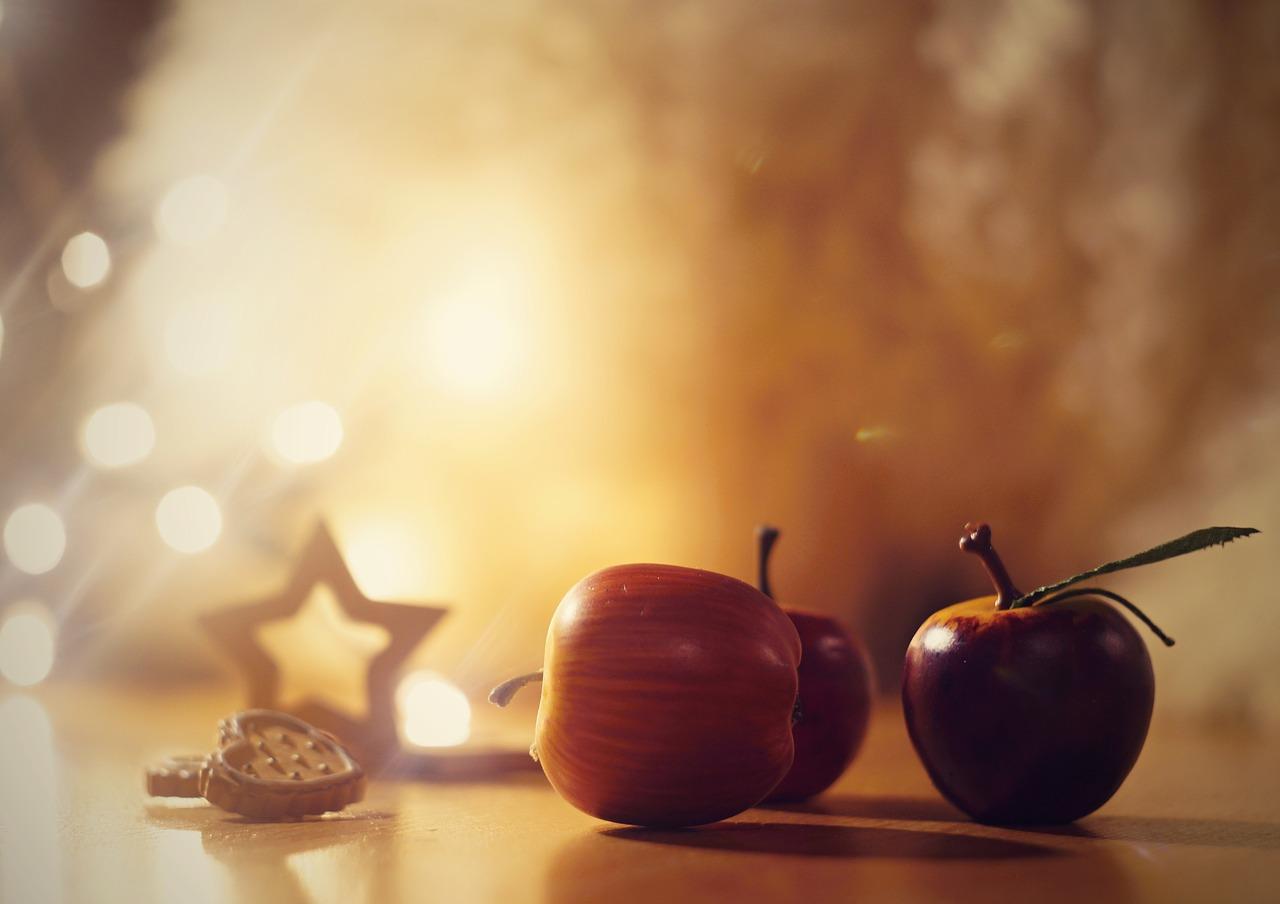 Ensalada de manzana navideña