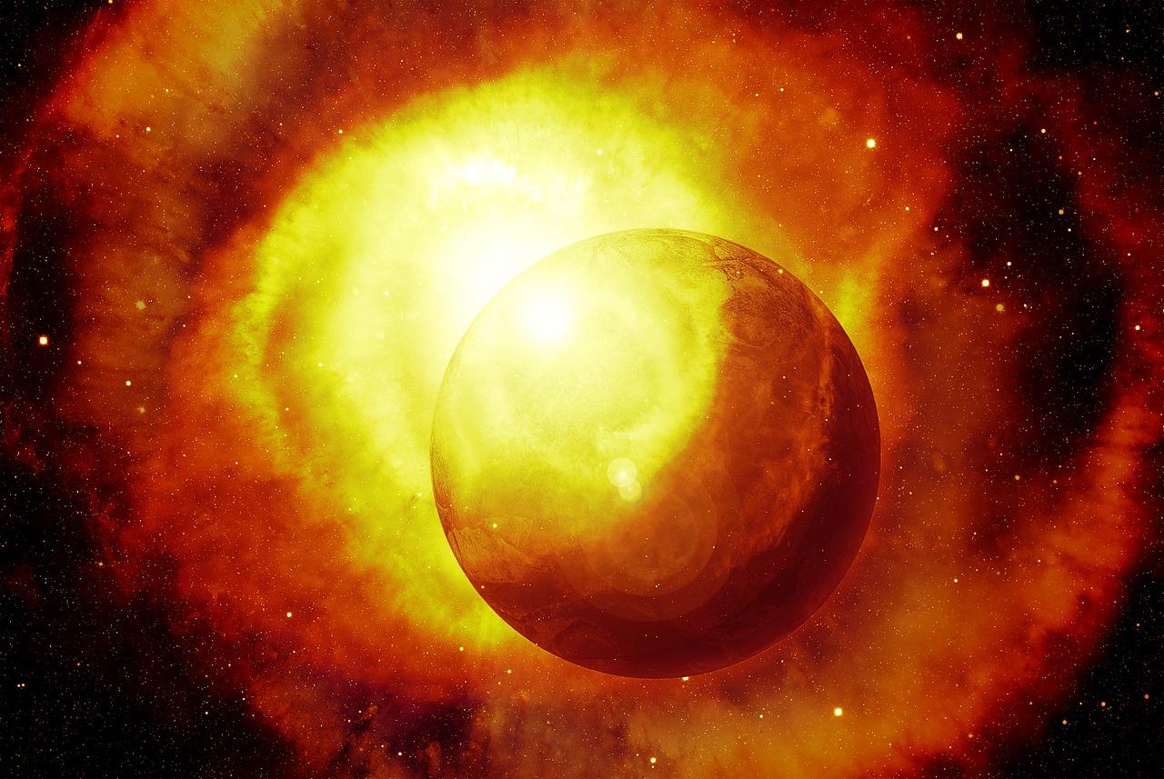 Sol en el espacio